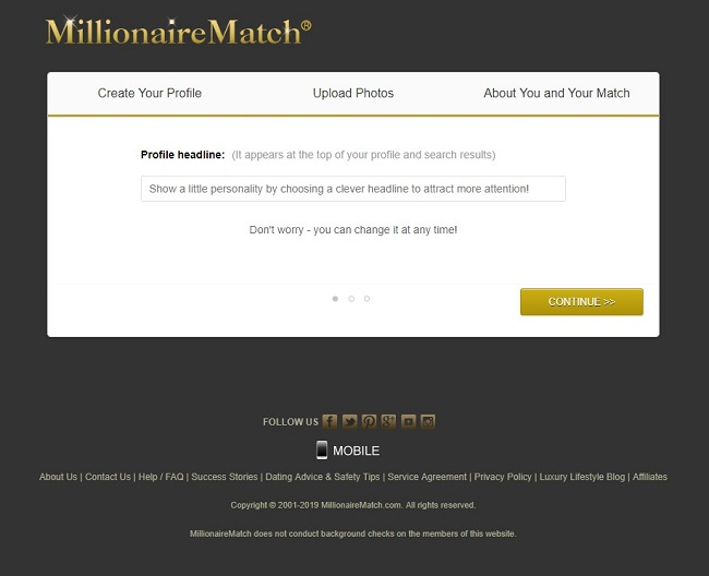 millionairematch sign in