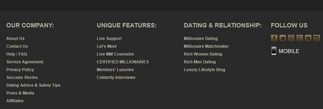 www millionairematch com login